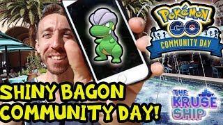 AWESOME BAGON COMMUNITY DAY! POKEMON GO!