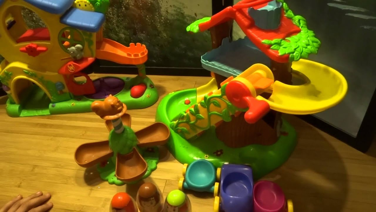 Playskool Weebles Musical Treehouse Part - 47: Weeble Fun At The Treehouse And Slidehouse!