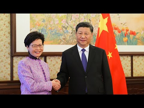 Chinese President Xi Jinping meets Hong Kong chief executive Carrie Lam