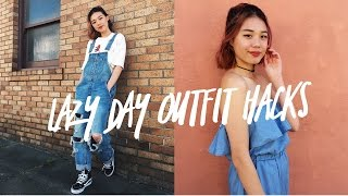 5 LAZY DAY OUTFIT HACKS!!