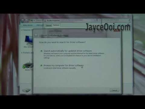 How to install Kindle Fire adb USB driver? - YouTube