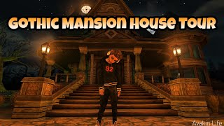 Avakin Life Gothic Mansion House Tour (Ghost Inside)