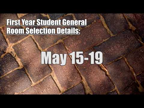 First Year Student General Room Selection Tutorial 2017