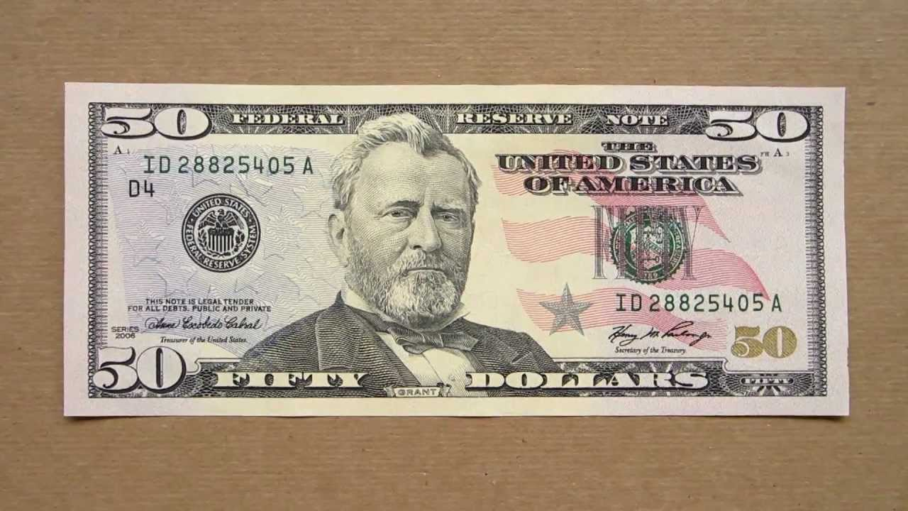 50 Us Dollars Banknote Fifty Us Dollars 2006 Obverse