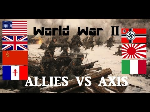 💣Military Comparison Of WWII - Allies VS Axis Powers- The Ultimate Comparison💣