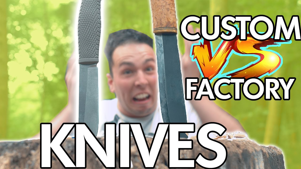 CUSTOM VS FACTORY KNIVES! NEVER get scammed again...