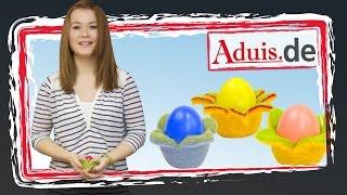 Bunte Eierbecher aus Filz
