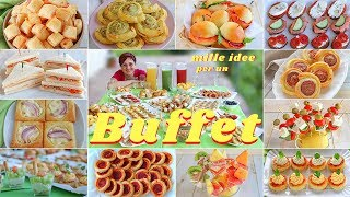 MILLE IDEE PER UN BUFFET - COME ORGANIZZARE UN RINFRESCO IN CASA - How to Set Up a Buffet
