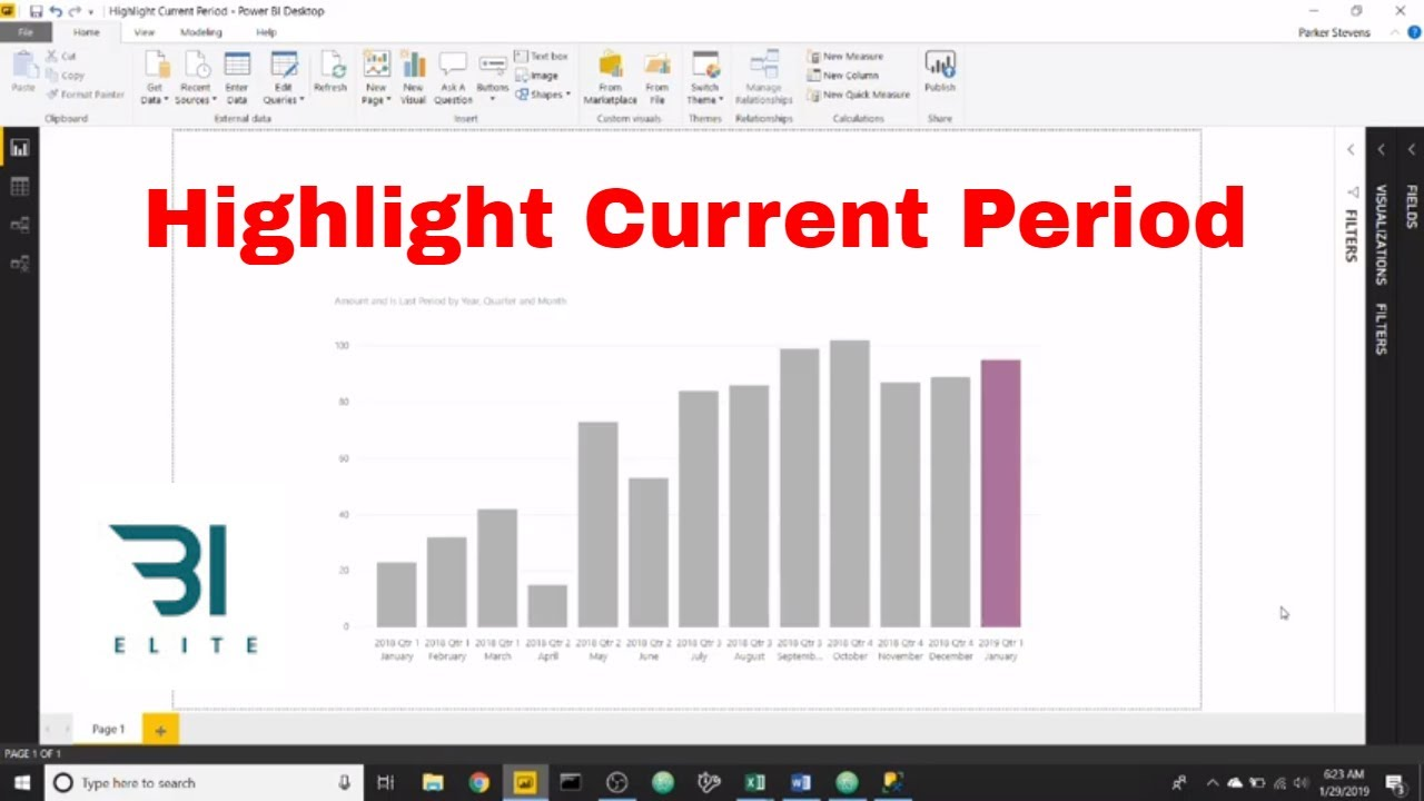 DAX for Power BI - Highlight Current Period