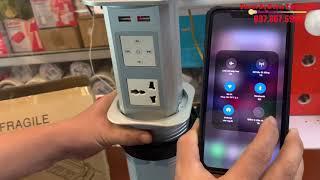 Hộp ổ cắm điện âm bàn tích hợp sạc không dây và loa nghe Bluetooth BJQ-P1