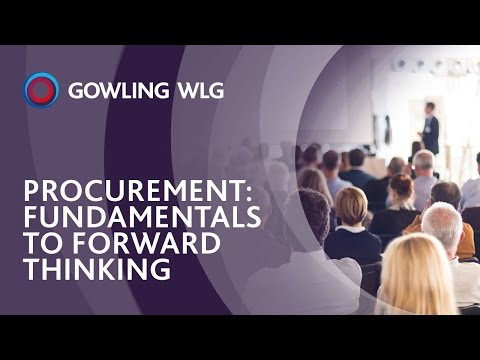 Procurement: Fundamentals to Forward Thinking