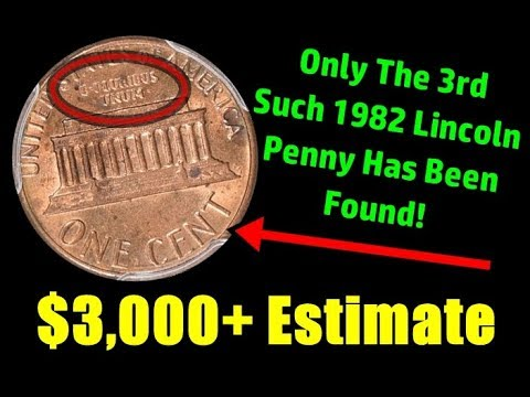 3rd Example Of Rare 1982 Lincoln Penny Is On The Auction Block! - $3000+  Estimate!
