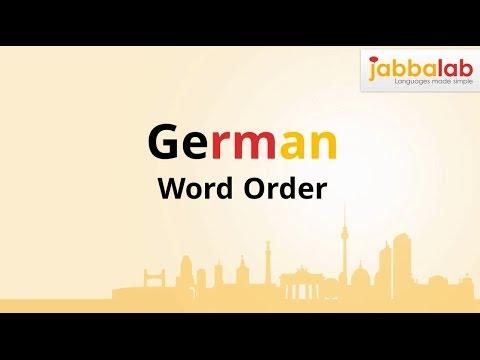 German Grammar - German Word Order - Lesson 3 - Jabbalab