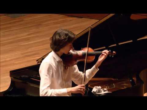 Stephen Waarts -- Menuhin Competition  -- Senior Semi-Finals