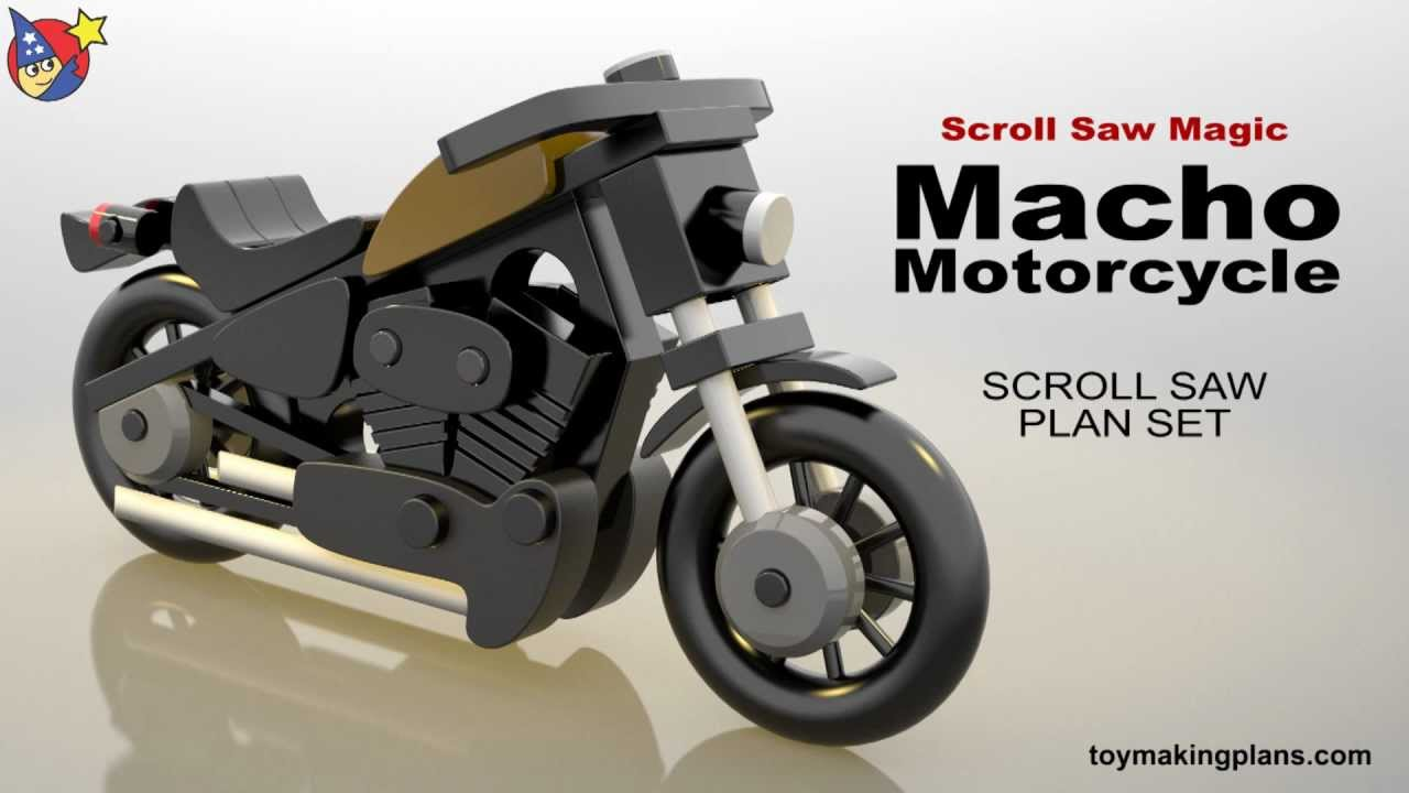 Wood Toy Plans - Macho Motorcycle - YouTube