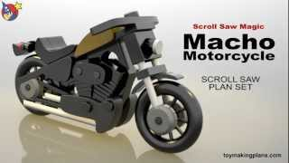 Wood Toy Plans - Macho Motorcycle