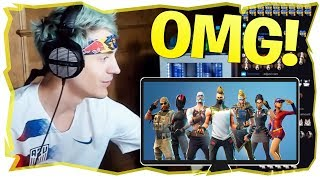Ninja Reaction to NEW Fortnite Season 5 Battle Pass Skins and TOYS!