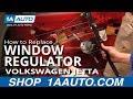 How To Install Replace Manual Window Regulator Volkswagen Jetta 93-99 1AAuto.com