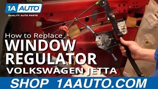 How To Install Replace Manual Window Regulator Volkswagen Jetta 93-99 1AAuto.com(https://www.1aauto.com/1A/WindowRegulators/Volkswagen/Jetta/1AWRK00955 1A Auto shows you how to repair, install, fix, change or replace a slow, stuck, ..., 2013-03-13T18:57:21.000Z)