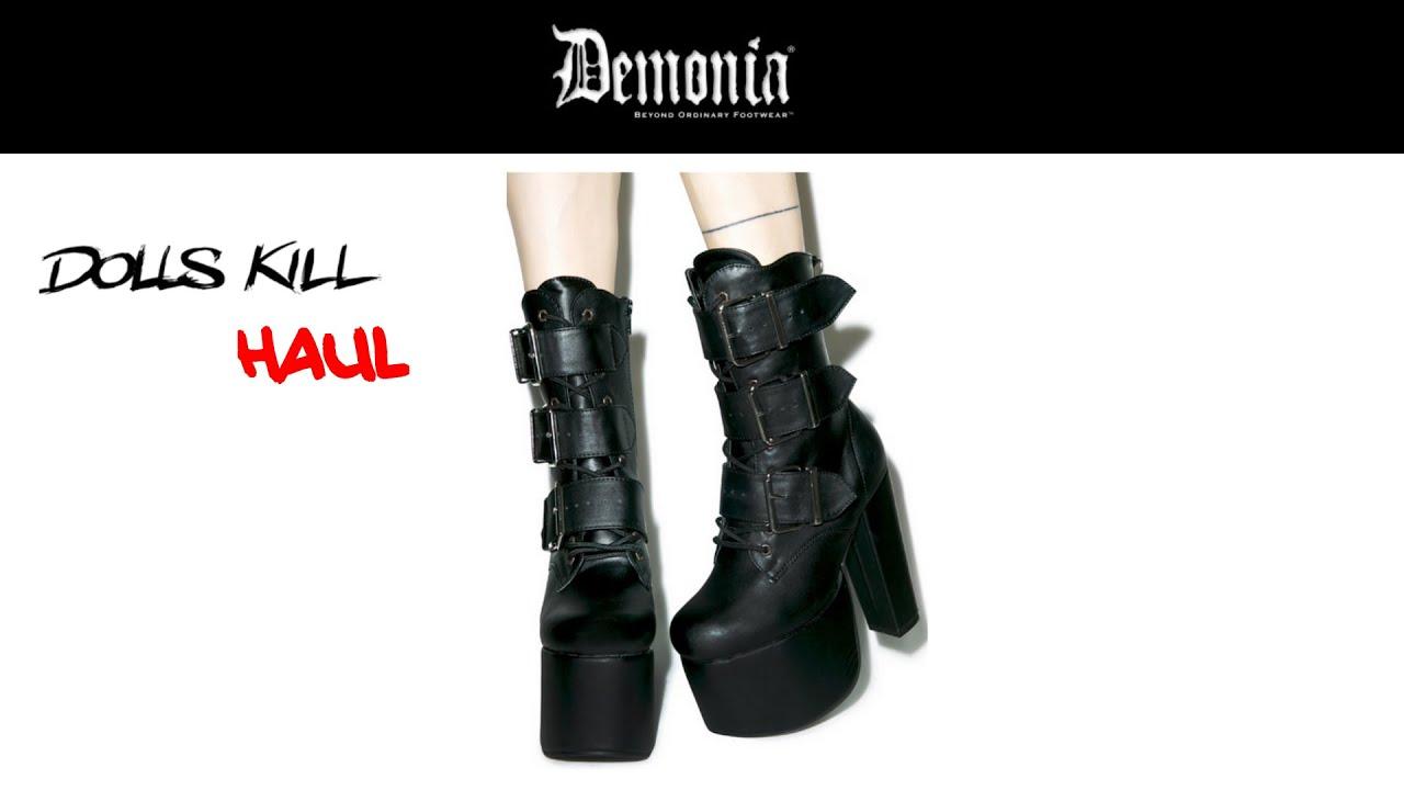 5407591777e Dolls Kill Haul - Demonia Elvira (Torment 703) Boots Unboxing Try-on ...