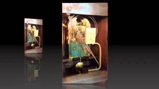 German Junghans Carved Mahogany Westminster Bracket Clock
