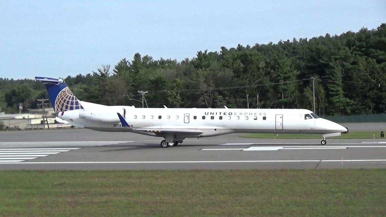 Commercial Aviation United Express Embraer Erj 145 Er4 Takeoff