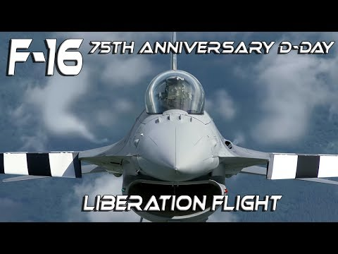 4K UHD  F-16 Unique Footage Special Painted Aircrafts  for 75th  Anniversary D-Day Liberation Flight