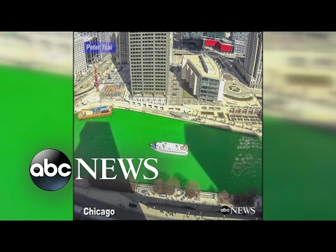Chicago celebrates St. Patrick's Day by dyeing river green