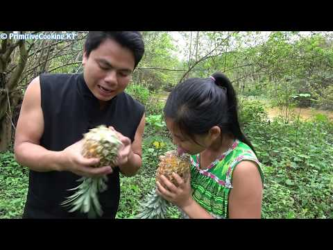 Survival skills - Finding food in forest meet natural food and cooking - Eating delicious