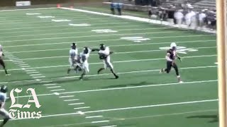 Patrick Mahomes scores a spectacular touchdown for Whitehouse High