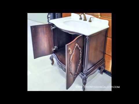 Antique Bathroom Vanity Set  - Brown - Chester