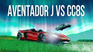 Forza Horizon 4 - Lamborghini Aventador J vs Koenigsegg CC8S   Fortune Island DLC Gameplay!