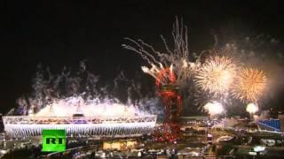 Фейерверк на закрытии Олимпиады