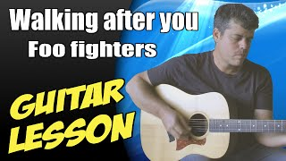 Walking after you ♦ Guitar Lesson ♦ Tutorial ♦ Cover ♦ Tabs ♦ Foo fighters ♦ Part 1/2 Mp3