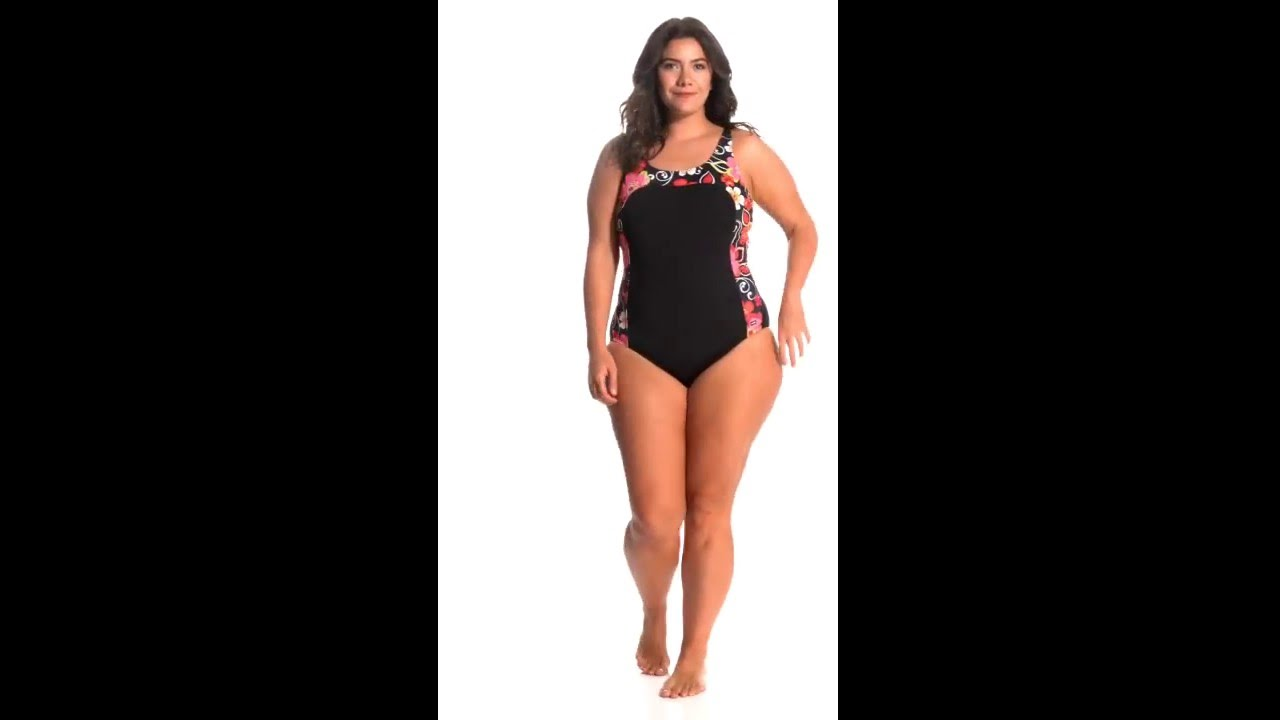 7e3da5b8aab EQ Swimwear Plus Size Grace One Piece Swimsuit