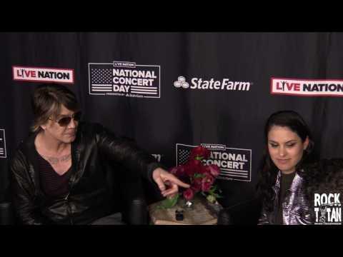 Goo Goo Dolls John Rzeznik speaks with the press at LIVE NATION National Concert Day