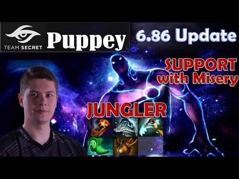 Puppey - Enigma Jungler Pro Gameplay | SUPPORT with Misery | Dota 2 MMR