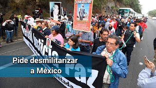 Caminata por la paz pide desmilitarizar a México
