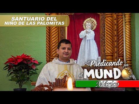 MISA EN EL SANTUARIO DEL NIÑO DE LAS PALOMITAS (Predicando por el mundo) - Padre Bernardo Moncada