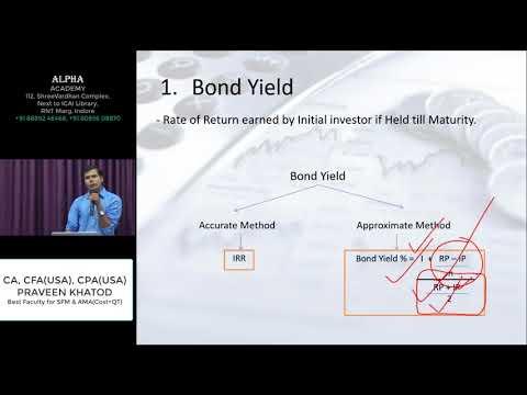 Bonds Valuation Revision by CA,CFA(USA),CPA(USA) Praveen Khatod
