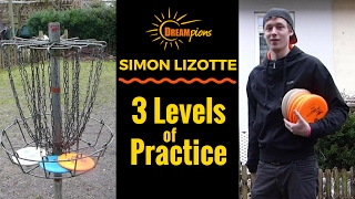 simon lizotte disc golf fun training 3 levels of practice