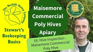 Poly Hive Inspection - Maisemore Apiaries Commercial Poly Hive