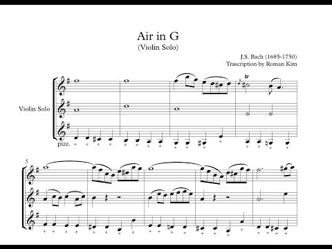Air in G Violin Solo Score  ROMAN KIM