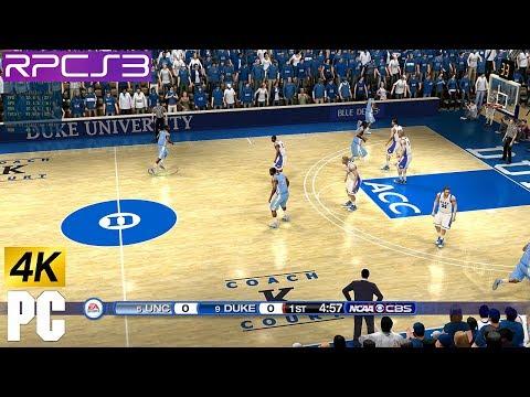 PS3 NCAA Basketball 10 In 4k PC RPCS3 Emulator NCAA 10 Demo