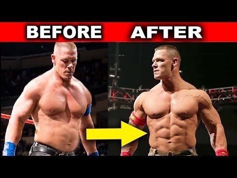 10 Surprising WWE Body Transformations - John Cena, Roman Reigns & more