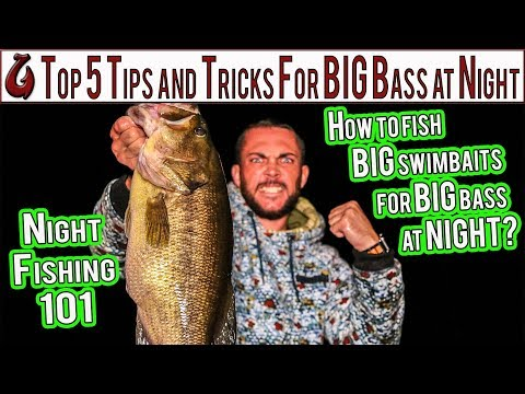 Top 5 Night Fishing Tips And Tricks For Bass //How To Catch Bass On Big Swimbaits And Frogs At Night