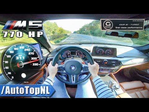 BMW M5 F90 G POWER | 770HP 4.4 V8 BiTurbo | TOP SPEED On AUTOBAHN (NO SPEED LIMIT) By AutoTopNL