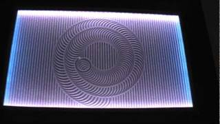 zen table drawing spiral pattern
