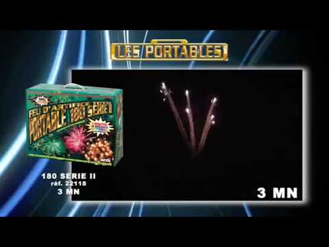 Feu d'artifice automatique portable 180 série II