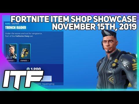 Fortnite Item Shop *NEW* TRENCH RAIDER SKIN SET! [November 15th, 2019] (Fortnite Battle Royale)